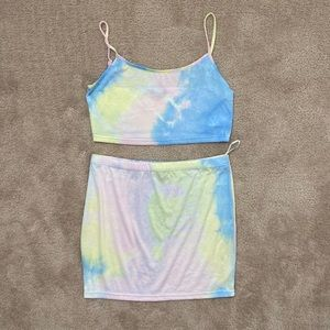 Cotton candy color 2 piece